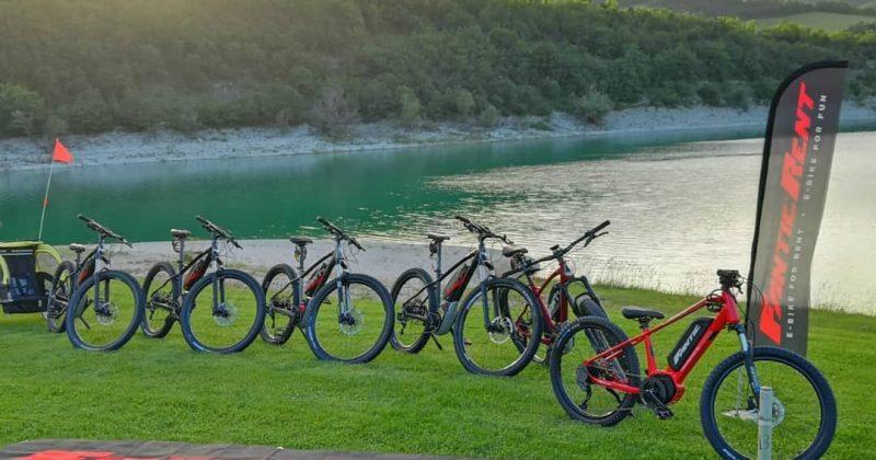 Noleggio e-bike e mountain bike al Lago di Fiastra